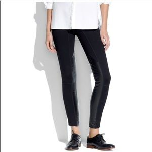 Madewell partial Leather leggings